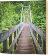 Appalachian Bridge Wood Print