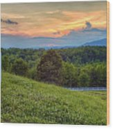 Appalachian Evening Wood Print