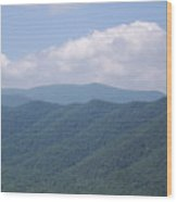Appalachian Forest Ridge Wood Print