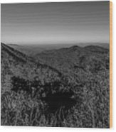 Appalachian Mountains From Mount Mitchell, The Highest Point In  Wood Print