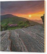 Appalachian Trail Roan Highlands Jane Bald Sunset Landscape Wood Print