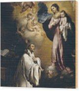 Apparition Of The Virgin To Saint Bernardo  Wood Print