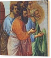 Appearance Of Christ To The Apostles Fragment 1311 Wood Print