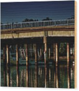 Appian Way Bridge Wood Print