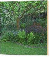 Apple And Fern Wood Print