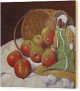 Apple Annie Wood Print by Donelli  DiMaria