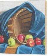 Apple Basket Wood Print