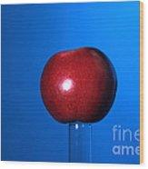 Apple Before Bullet Impact Wood Print