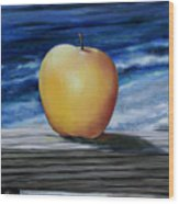 Apple By The Sea Wood Print