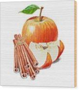 Apple Cinnamon Wood Print