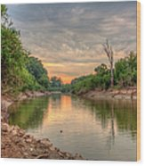 Apple Creek At Dusk Wood Print