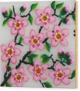 Apple Flower Wood Print