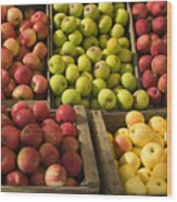 Apple Harvest Wood Print by Garry Gay