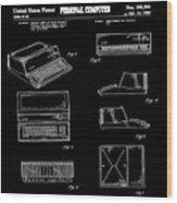Apple Macintosh Patent 1983 Black Wood Print