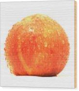 Apple Red Wood Print
