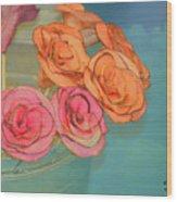 Apple Roses Wood Print