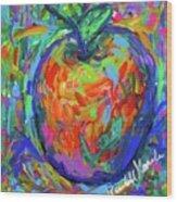 Apple Splash Wood Print