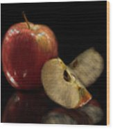 Apple Still Life Wood Print