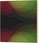 Apple Tree Semi Circle Background Horizontal Wood Print