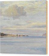 Appledore, High Tide Wood Print