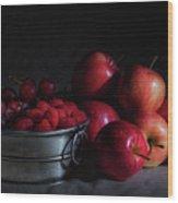 Apples And Berries Panoramic Wood Print