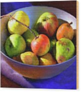 Apples And Pears Wood Print