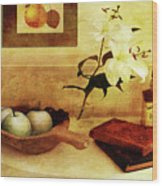 Apples And Pears In A Hallway Wood Print