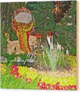 Apples In Autumn In Bellagio Conservatory In Las Vegas- Nevada Wood Print