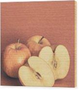 Apples In Autumn Wood Print