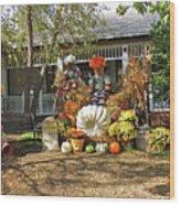 Applewood Farmhouse Grill Harvest Scene Wood Print