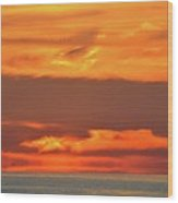 Approaching August Sunrise At Lake Simcoe  Wood Print