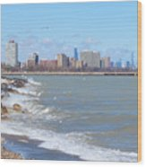 Approaching Chicago Wood Print