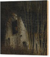 Approaching Darkness Wood Print
