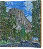 Approaching El Capitan Yosemite National Park Wood Print