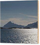 Approaching Lofoten Wood Print