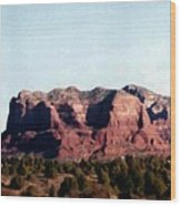 Approaching Sedona Wood Print