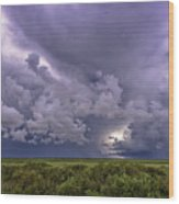 Approaching Storm Wood Print