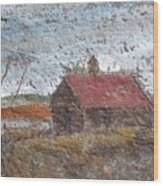 Approaching Storm Wood Print by Norman F Jackson