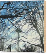 Approaching The Space Needle  Wood Print