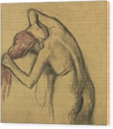 Apres Le Bain Femme S'essuyant Wood Print