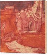 Apres Rembrandt Wood Print