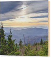 Apricot Afternoon at Clingmans Dome Wood Print