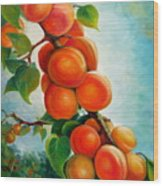 Apricots In The Garden Wood Print
