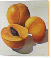Apricots Wood Print by Shannon Grissom