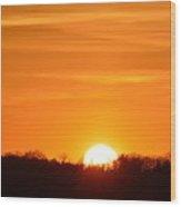 April 15-2016 Sunset  Wood Print