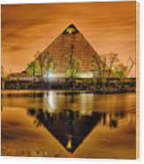 April 2015 - The Pyramid Sports Arena In Memphis Tennessee Wood Print