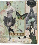 April In Paris Wood Print