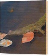 April Leaves Wood Print