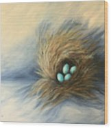 April Nest Wood Print