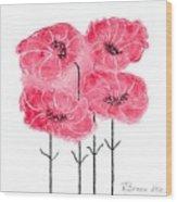 April's Flowers Wood Print